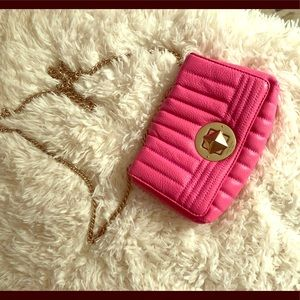 Kate Spade Hot Pink Leather Crossbody